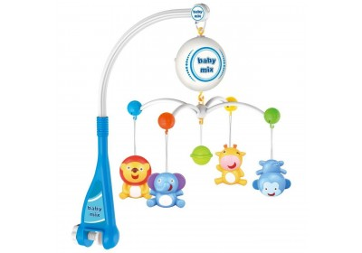 Мобиль карусель на батарейках Зверята Baby Mix HS-1669M