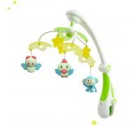 Музыкальная карусель с проектором Baby Mix RC-822-206 Птички green