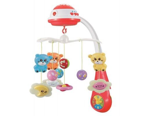 Музыкальная карусель с проектором Baby Mix FS-35604 Red