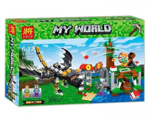 Конструктор Minecraft 33162 нападение дракона Края