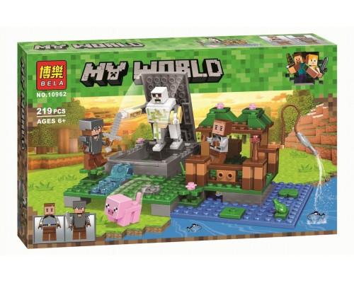 Конструктор Bela Minecraft 10962 Голем на ферме