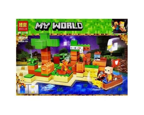 Конструктор Bela Minecraft 11132 На рыбалке