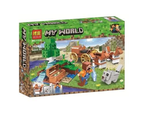 Конструктор Bela Minecraft 11130 Сокровищница в лесу у водопада
