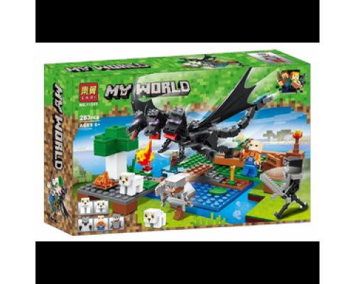 Конструктор Bela Minecraft 11265 Битва с Черным Драконом