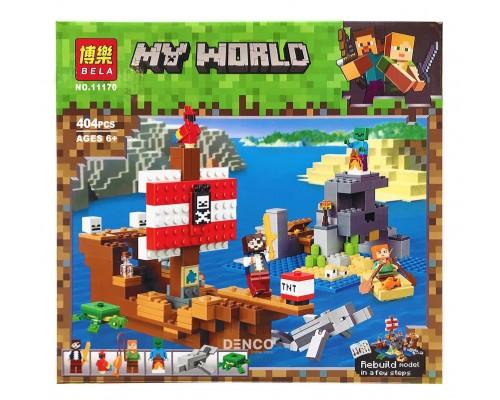 Конструктор Bela Minecraft 11170 Приключения на пиратском корабле