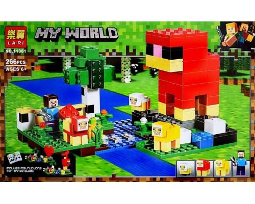 Конструктор Bela Minecraft 11361 Шерстяная ферма