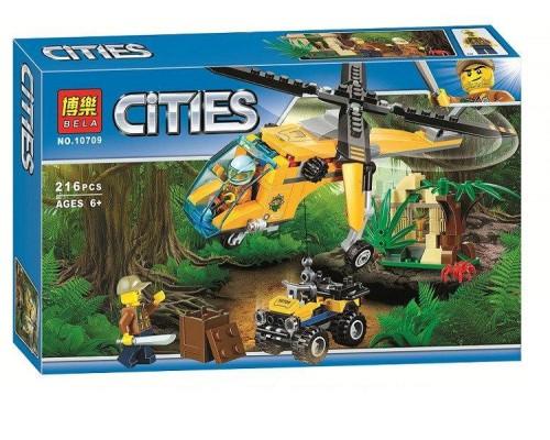 Конструктор Bela 10709 Грузовой вертолёт исследователей джунглей