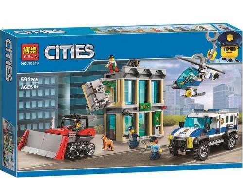 Конструктор Bela CitiesОграбление на бульдозере 10659