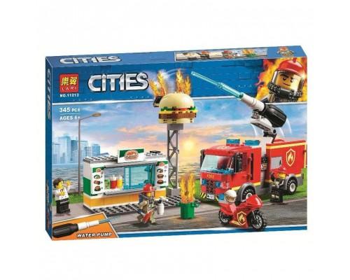 Конструктор Bela CITIES 11213 Пожар в бургер-кафе