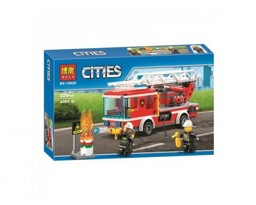 Конструктор Bela CITIES 10828 Пожарный грузовик с лестницей