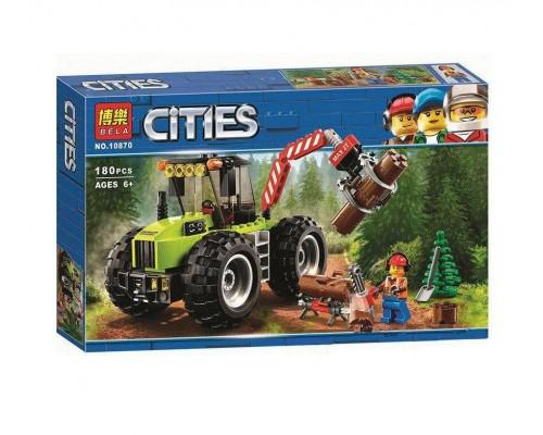 Конструктор Bela CITIES 10870 Лесоповальний трактор