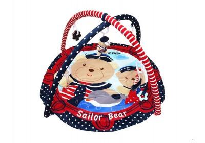 Коврик развивающий Baby Mix 3406C Мишки моряки