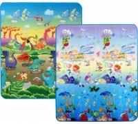 Детский двусторонний коврик Limpopo Динозавры и Подводный мир 150х180 см LP013-150