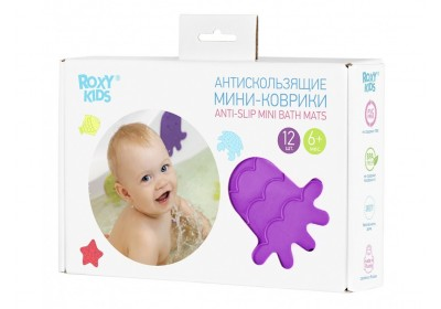 Антискользящие мини-коврики Roxy Kids для ванны (12 штук в комплекте)