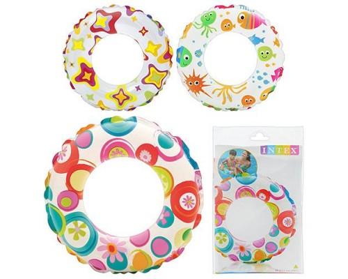 Детский надувной круг Intex 59230 3 цвета 51 см