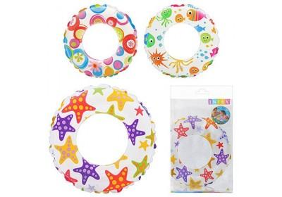Детский надувной круг Intex 59241 3 цвета