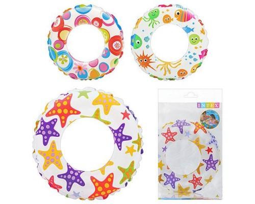 Детский надувной круг Intex 59241 3 цвета 61 см