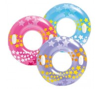 Надувной круг с ручками Intex 59256 3 цвета 91 см