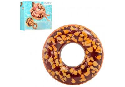 Надувной круг для плавания Intex 56262 Шоколадный пончик