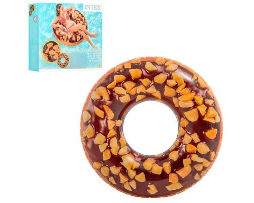 Надувной круг для плавания Intex 56262 Шоколадный пончик 114см