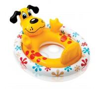 Детский круг плотик Собака Intex 59570