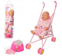 Кукла пупс Baby Born с коляской 07-02