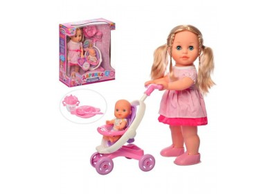 Кукла Даринка интерактивная с малышом  5444