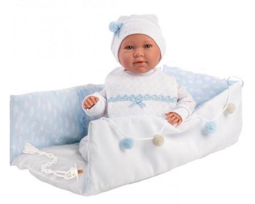 Кукла-пупс мальчик Llorens Мимо с матрасиком для кроватки 74081 42 см