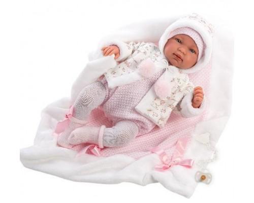 Кукла Llorens Tина в куртке с капюшоном 84438 42 см