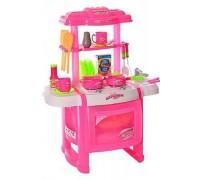 Кухня детская Kitchen WD-P15-R15 розовая