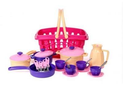 Набор посуды в корзине Технок 4449