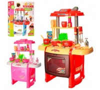 Кухня детская Kitchen WD-P15-R15 красная
