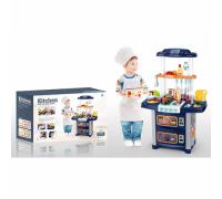 Кухня детская со звуком и водой WD-R38 синяя