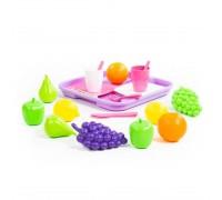 Набор продуктов с посудкой и подносом 46970
