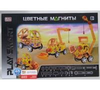 Магнитный конструктор Транспорт Play Smart 2428 45 элементов