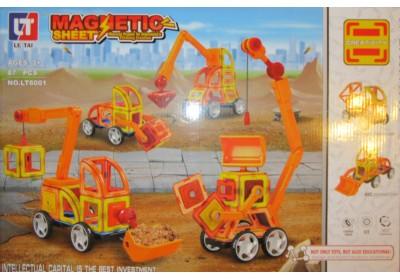 Магнитный конструктор Стройтехника LT6001 87 деталей
