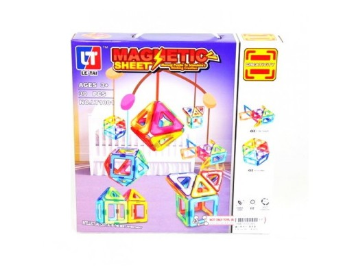 Магнитный конструктор Magnetic LT1001 30 деталей