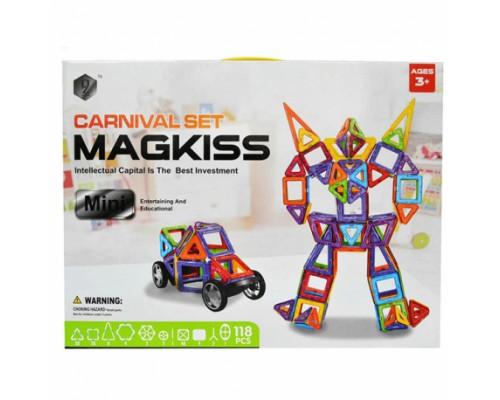 Магнитный конструктор Magkiss Mini 118 деталей HD343A