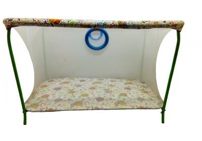 Манеж игровой с мелкой сеткой полу люкс Совы