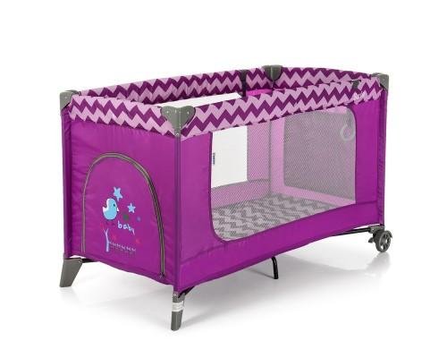 Манеж кровать El Camino SAFE ME 1016 Purple Zigzag