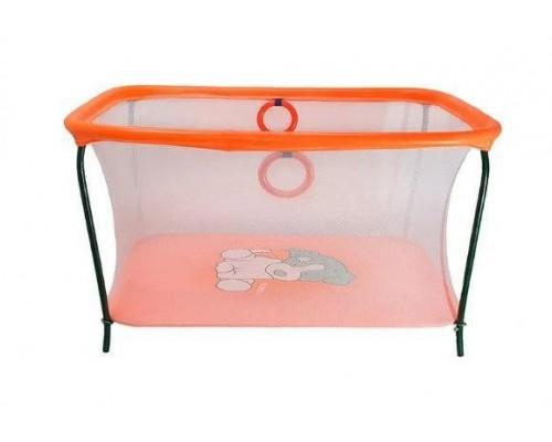 Манеж Люкс игровой с мелкой сеткой Пес оранжевый