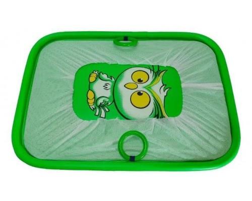 Манеж Люкс игровой с мелкой сеткой Сова зеленая