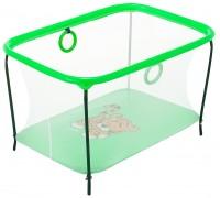 Манеж Kinderbox Люкс игровой с мелкой сеткой Тигр зеленый