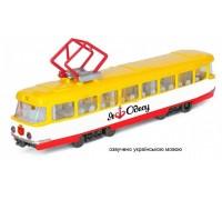 Модель городской трамвай Одесса Технопарк SB-17-16WB-O