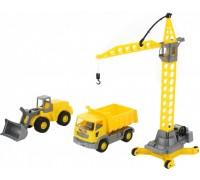 Набор строительной техники Агат Polesie 57150