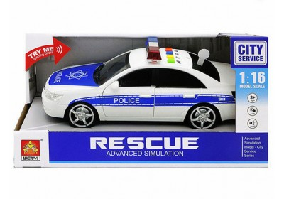 Машинка Полицейская Wenyi WY560A со звуком и светом инерция