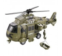 Вертолет инерционный военный WY751В
