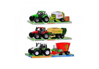Трактор инерционный с прицепом 3 вида