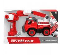 Пожарный автомобиль конструктор LM8034-DZ-1
