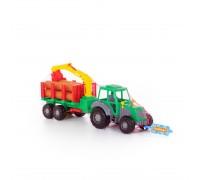 Трактор Алтай с прицепом лесовоз Polesie 35370 60 см